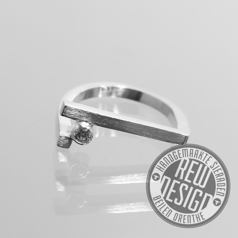 zilveren ring square
